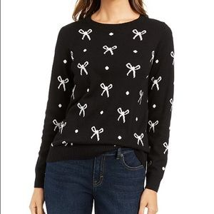 Charter Club bow print sweater